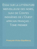 Essai sur la littérature merveilleuse des noirs, suivi de Contes indigènes de l'Ouest africain français - Tome premier