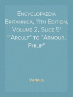 "Encyclopaedia Britannica, 11th Edition, Volume 2, Slice 5 ""Arculf"" to ""Armour, Philip"""
