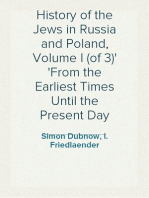 History of the Jews in Russia and Poland, Volume I (of 3) From the Earliest Times Until the Present Day
