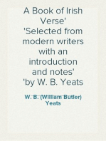 A Book of Irish Verse Selected from modern writers with an introduction and notes by W. B. Yeats