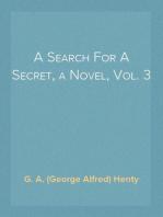 A Search For A Secret, a Novel, Vol. 3