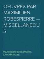 Oeuvres par Maximilien Robespierre — Miscellaneous