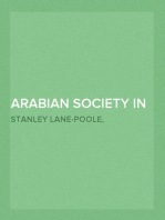 Arabian Society In The Middle Ages Studies From The Thousand And One Nights