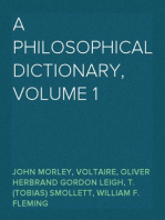 A Philosophical Dictionary, Volume 1