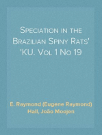 Speciation in the Brazilian Spiny Rats KU. Vol 1 No 19