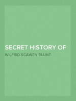 Secret History of the English Occupation of Egypt Being a Personal Narrative of Events