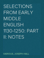 Selections from Early Middle English 1130-1250: Part II: Notes