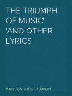 The Triumph of Music And Other Lyrics