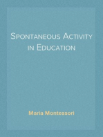 Spontaneous Activity in Education