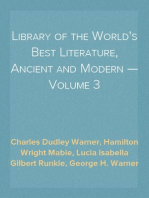 Library of the World's Best Literature, Ancient and Modern — Volume 3