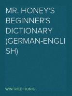 Mr. Honey's Beginner's Dictionary (German-English)