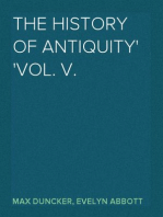 The History of Antiquity Vol. V.