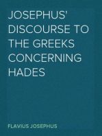 Josephus' Discourse to the Greeks Concerning Hades