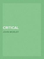 Critical Miscellanies (Vol 2 of 3) Essay 1