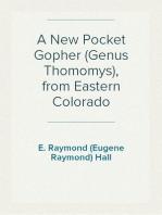 A New Pocket Gopher (Genus Thomomys), from Eastern Colorado