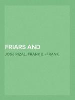 Friars and Filipinos An Abridged Translation of Dr. Jose Rizal's Tagalog Novel, 'Noli Me Tangere.'