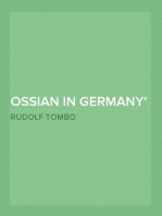 Ossian in Germany Bibliography, General Survey, Ossian's Influence upon Klopstock and the Bards