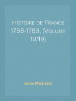 Histoire de France 1758-1789, (Volume 19/19)