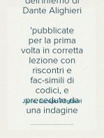 Chiose alla cantica dell'Inferno di Dante Alighieri pubblicate per la prima volta in corretta lezione con riscontri e fac-simili di codici, e precedute da una indagine critica