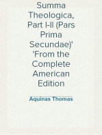 Summa Theologica, Part I-II (Pars Prima Secundae) From the Complete American Edition