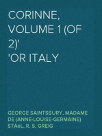 Corinne, Volume 1 (of 2) Or Italy