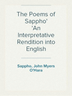 The Poems of Sappho An Interpretative Rendition into English