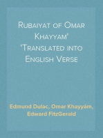 Rubaiyat of Omar Khayyam Translated into English Verse