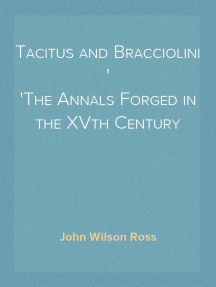 Tacitus and Bracciolini