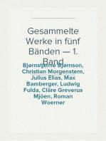 Gesammelte Werke in fünf Bänden — 1. Band