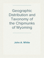 Geographic Distribution and Taxonomy of the Chipmunks of Wyoming