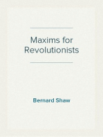 Maxims for Revolutionists