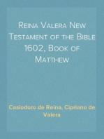 Reina Valera New Testament of the Bible 1602, Book of Matthew
