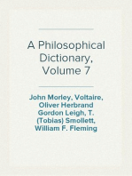 A Philosophical Dictionary, Volume 7