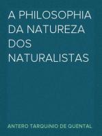 A philosophia da natureza dos naturalistas