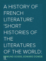 A History of French Literature Short Histories of the Literatures of the World