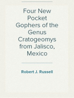Four New Pocket Gophers of the Genus Cratogeomys from Jalisco, Mexico