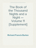The Book of the Thousand Nights and a Night — Volume 11 [Supplement]