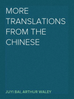 More Translations from the Chinese