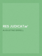 Res Judicatæ Papers and Essays