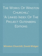 The Works Of Winston Churchill A Linked Index Of The Project Gutenberg Editions