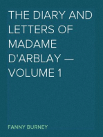 The Diary and Letters of Madame D'Arblay — Volume 1