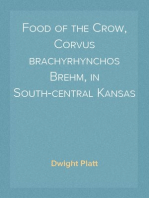 Food of the Crow, Corvus brachyrhynchos Brehm, in South-central Kansas