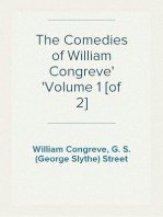 The Comedies of William Congreve Volume 1 [of 2]