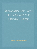 Declaration of Faith In Latin and the Original Greek