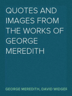 Quotes and Images From The Works of George Meredith