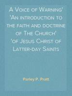 A Voice of Warning An introduction to the faith and doctrine of The Church of Jesus Christ of Latter-day Saints
