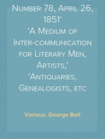 Notes and Queries, Number 78, April 26, 1851 A Medium of Inter-communication for Literary Men, Artists, Antiquaries, Genealogists, etc
