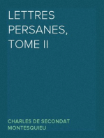 Lettres persanes, tome II