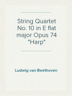 "String Quartet No. 10 in E flat major Opus 74 ""Harp"""