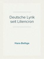 Deutsche Lyrik seit Liliencron